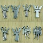 200PCs Mixed 4 archangel charms in dark gold color and tibetan silver color