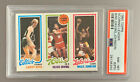 Magic Johnson Larry Bird Julius Erving Rookie 1980 Topps (PSA)
