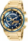 Invicta 25281 Mens S1 Rally Blue Glass Fiber Dial Yellow Gold Chronograph Watch