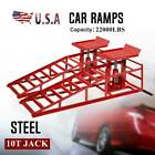 2pc Hydraulic Vehicle Car Ramps 10000lbs Capacity Portable For Car Repair Red