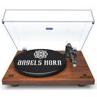 Vintage Record Player 2 Speed Vinyl Turntable with Angels Horn 3 Colors
