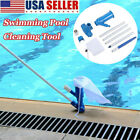 Swimming Pool  Spa Pond Fountain Vacuum Cleaner Brush Cleaning Kit Above Ground
