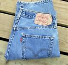 Vintage Levis 501 button fly red tab Jeans Tag size 31x34 Faded Levis