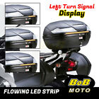X-THUNDER Rear Flowing LED Strip Brake Turn Signal Lights Fit Cagiva Motorcycle