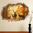 Forest Deer Wall Stickers 3D Wall Decals Poster Mural Living Room Home Deco TBO