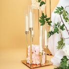24 Inch tall Gold Candelabra Candle Holder Centerpiece Glass Wedding Home Sale