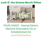 Kimberbell Bench Pillow Pattern Luck O the Gnome St Patricks Day