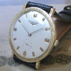 Mens 1958 Longines 14K SOLID GOLD Engraved Bezel Vintage 17j Swiss Made Watch A+