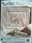 Bucilla Counted Cross Stitch God Bless Babies Birth Record Kit 41199 Baby Teddy