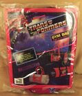 G1 TRANSFORMERS gym bag w lenticular Optimus Prime & Megatron image panel SEALED