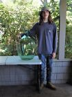Early Antique Blown Green Glass Demijohn Carboy Massive Wine Bottle 26 Tall