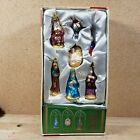 Holiday Place Vintage Glass Nativity Ornament Collection Lot Christmas