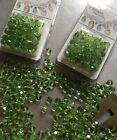 Swarovski PERIDOT green Crystal Beads MIX LOT CLOSE OUT SALE  ROUND + BRIOLETTE