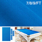 Billiards Table Felt Worsted Blend Fast Speed Pool Cloth Mat For 7 8 9FT Blue
