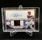 2020 Topps Definitive Rhys Hoskins Gold Framed Auto Autograph Patch 10 Phillies