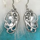 Sterling Silver Goddess Earrings Gypsy Woman Art Deco Nouveau Witch Gothic