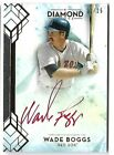 WADE BOGGS 2020 TOPPS DIAMOND ICONS AUTO AUTOGRAPH RED SOX CARD #1 25!