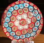 Beautiful Colors Vintage Murano Art Glass Millefiori Paperweight Excellent