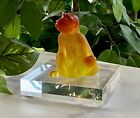 NEW Daum Singe Chinois Chinese Monkey Pate De Verre Crystal Figurine Signed