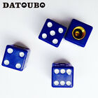 4 Pcs8pcs Plastic Color Dice Tire Stem Valve Caps Car Wheel Air Dust Cap Cover