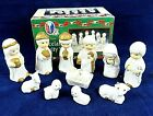 Nativity Set Christmas 11 Piece Children Ceramic Kids 3 Vintage 1998