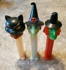 PEZ Dispenser Halloween Lot Glow Witch Black Cat Vintage Witch