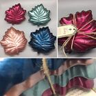 x4 Turkish Glass Leaf Dessert Plate Set Respberry Red Blue Green Taupe Fall 6