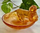 NEW Daum Tiger Horoscope Coupelle Dish Pate de Verre French Crystal Retail 410
