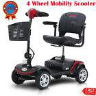 Compact Travel Electric Power Mobility Scooter for Adults Leather Seats Folding