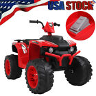 12V Kids Electric 4 Wheeler ATV Quad Ride On Car Toy with LED Headlight 2 Speeds