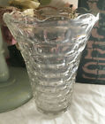 Vintage Depression Clear Glass Bubble Vase  8 high  Beautiful