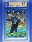 2012 Topps Chrome Blue Wave Refractor Seattle Seahawks Russell Wilson RC BGS 9.5