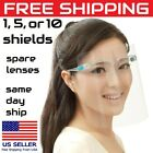 Usa 1-10 Face Shieldsfull Protection Clear Glasses Frame Lens Face Protector