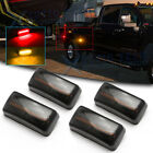Smoked Front Rear LED Side Marker Light For Silverado 2500HD 3500HD 2015 up 4pcs