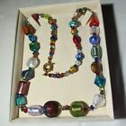 Italian Murano Glass Necklace Antica Murrina Venezia 26 Handcrafted Beautiful