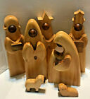 Wooden Nativity Set Modernistic Wood Modern Contemporary