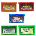 Pokemon Game Cards Fire Red Leaf Green Emerald Ruby Gameboy Advance GBC GBA SP