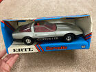 Vintage ERTL 1 16 Silver Corvette With Open Sunroof Die Cast Red Interior