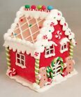Gingerbread House Red Man Cookie LED Light Up Candy Clay dough 6 Kurt Adler