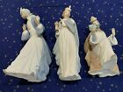 NAO By Lladro Nativity Set KING BALTHASAR MELCHIOR GASPAR Wise Men origbox MINT
