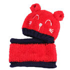Cotton blends Knit Hat Beanie Cap With neckerchief Girl Boy Baby Infant Hot sale