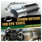 For GY6 150cc Engine 4 Stroke Scooter Performance Exhaust System Muffler 320mm