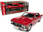 1966 CHEVROLET CHEVELLE SS 396 RED COVER CAR 1 18 DIECAST BY AUTOWORLD AMM1233
