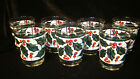 Set of 7 Double Old Fashion Glasses Christmas West Virginia Stained Glass