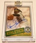 DENNIS ECKERSLEY 2020 TOPPS CLEARLY AUTHENTIC AUTO AUTOGRAPH CARD!