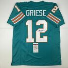 Autographed Signed BOB GRIESE Miami Teal Football Jersey JSA COA Auto