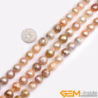 Natural Nucleated Edison Baroque Freshwater Assorted Color Round Loose Pearls15