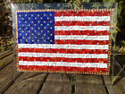 Stars  Stripes American Flag 191 Swarovski Crystals Stained Glass Mosaic
