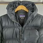 PATAGONIA Downtown Parka Medium Womens 600 Duck Down Filled Black Hood Coat 379