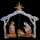 Nativity Scene 72 In Clear Led Lights Indoor Outdoor Christmas Decoration New